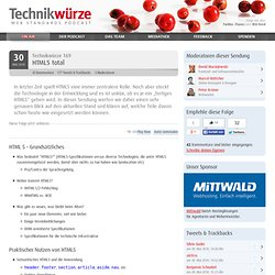 Technikwürze 169 – HTML5 total » Technikwürze – Web Standards Podcast
