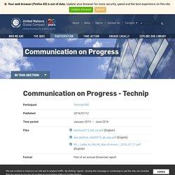 TechnipFMC – Communication on Progress - Technip