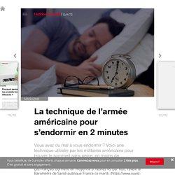 La technique de l'armée américaine pour s'endormir en 2minutes - Edition du soir Ouest France - 12/03/2019