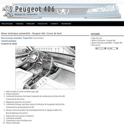 Revue technique automobile - Peugeot 406: Carnet de bord - Revue technique automobile