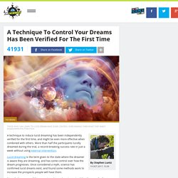 A Technique To Control Your Dreams Has Been Verified For The First Time