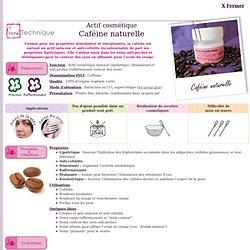 Actif cosmétique Caféine naturelle