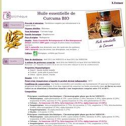 huile essentielle de Curcuma BIO - Curcuma longa