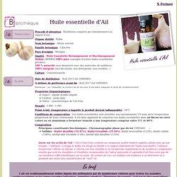 huile essentielle d'Ail - Allium sativum