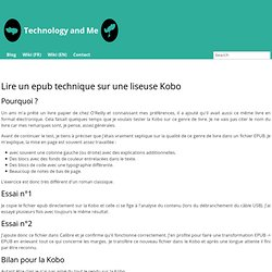Lire un epub technique sur une liseuse Kobo - Technology and me