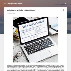 Technique for an Online Visa Application