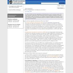 Fiche technique : Le FMI et l'Organisation mondiale du commerce