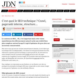 C'est quoi le SEO technique ? Crawl, pagerank interne, structure...