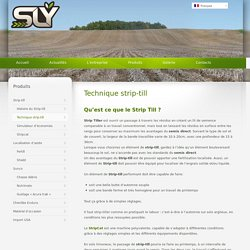 Technique strip-till et semis direct - SlyFrance, spécialiste Strip-till