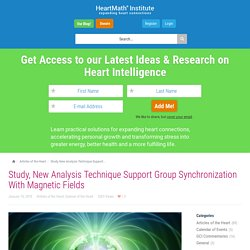 Study, New Analysis Technique Support Group Synchronization With Magnetic Fields