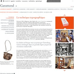 Garamond - La technique typographique