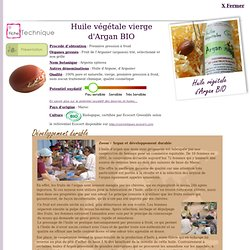 FT Huile végétale d'Argan BIO - Argania spinosa