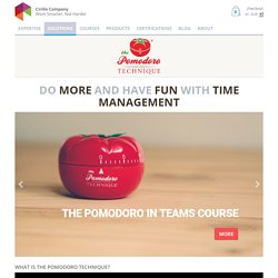 The Pomodoro Technique® - proudly developed by Francesco Cirillo