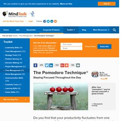 The Pomodoro Technique® - Time Management Skills From MindTools.com