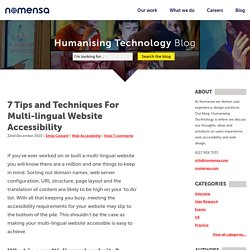 7 Tips and Techniques For Multi-lingual Website Accessibility