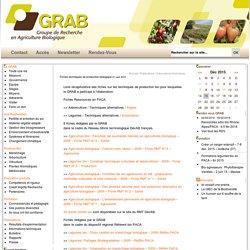 Fiches techniques de production biologique : GRAB, Groupe de Recherche en Agriculture Biologique