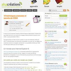 10 techniques avancées et secrets de CSS2 - Alsacréations