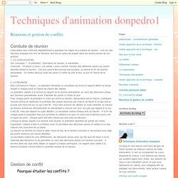 Techniques d'animation donpedro1: Réunions et gestion de conflits