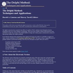 The Delphi Method: Techniques and Applications