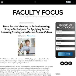 Simple Techniques for Applying Active Learning Strategies to Online Course Videos