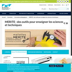 MERITE : des outils pour enseigner les sciences et techniques