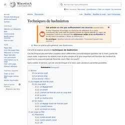 Techniques de badminton