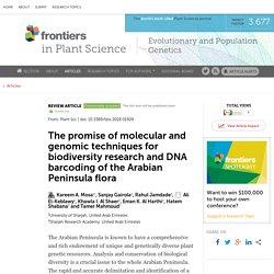 DNA barcoding of the Arabian Peninsula flora