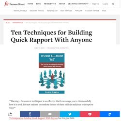 Ten Techniques for Building Quick Rapport With Anyone