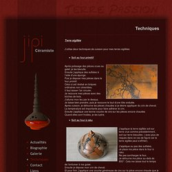 Techniques de céramique: raku, terre sigillée, émaux, tour etc...