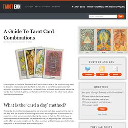 Techniques And Methods For Learning Tarot Card Combinations