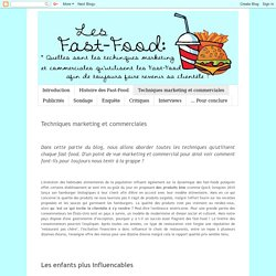 Les Fast- Food: Techniques marketing et commerciales