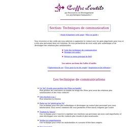 Coffre d'outils: Techniques de Communication