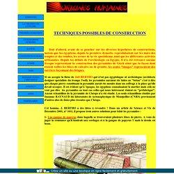 TECHNIQUES DE CONSTRUCTION DES PYRAMIDES