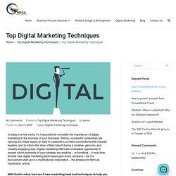 Top Digital Marketing Techniques - Omega Consultants