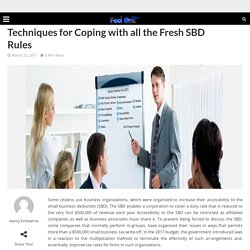 Techniques for Coping with all the Fresh SBD Rules – Feel One