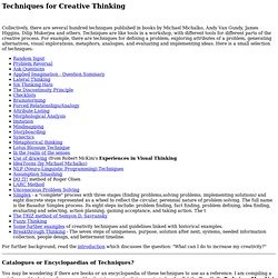 Techniques for Creative Thinking