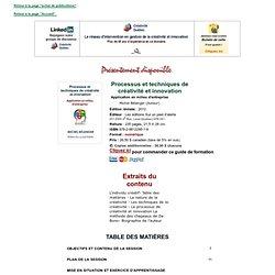 Guide Processus et techniques de créativité et innovation
