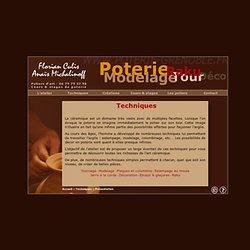Les techniques de poterie : raku, tour, tournage, modelage, sculpture, jarres à la corde, poterie à la corde, décoration des poteries... Cours de poterie, stages de poterie à Grenoble par Florian Culis, artiste et artisan potier.