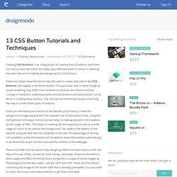 13 CSS Button Tutorials and Techniques