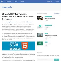 50 Useful HTML5 Tutorials, Techniques and Examples for Web Developers