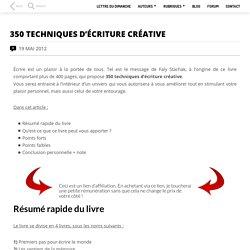 350 techniques d'écriture créative
