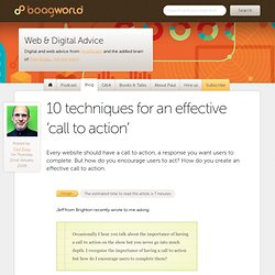 10 techniques for an effective 'call to action'