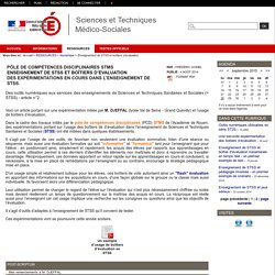Sciences et Techniques Médico-Sociales - Enseignement de STSS et boîtiers d'évaluation