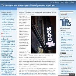 Internet, Tout y est Pour Apprendre: la preuve par MOOC