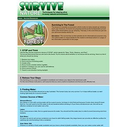 Survive Nature - Techniques for Surviving in every Natural Environment