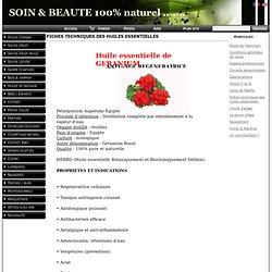 Fiches techniques des huiles essentielles www.savonhuile.com