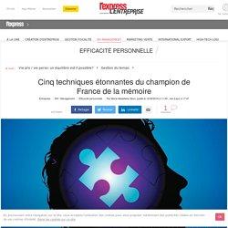 Cinq techniques étonnantes du champion de France de la mémoire