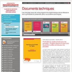 Bulletins techniques - Ajinomoto Eurolysine SAS