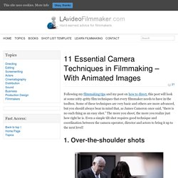 11 Essential Camera Techniques in Filmmaking - With Animated Images