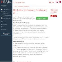 Bachelier Techniques Graphiques 3D
